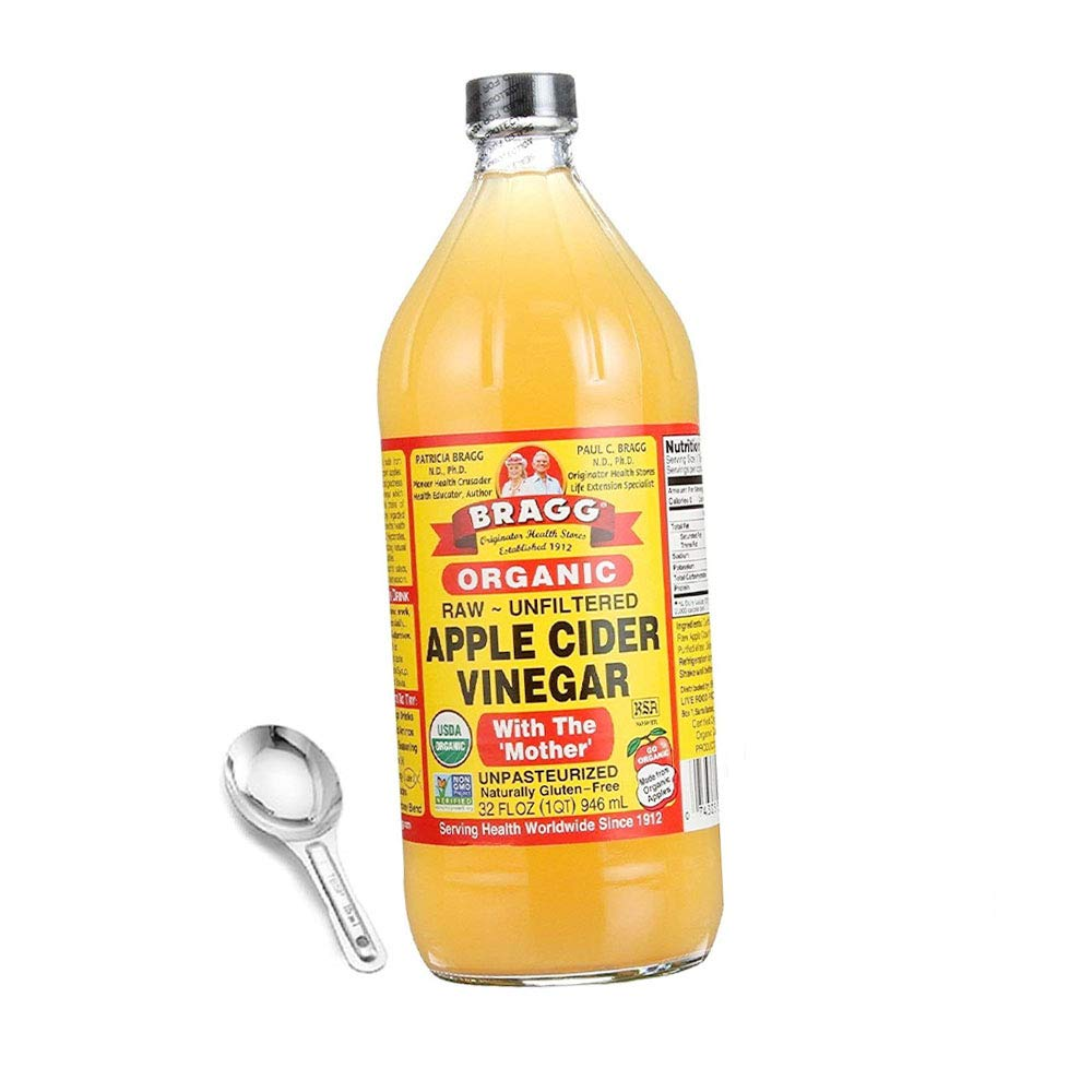 Organic Apple Cider Vinegar 32 Oz - With The Mother - Usda Certified Organic - Raw - All Natural, W/Measuring Spoon (Limited Edition)