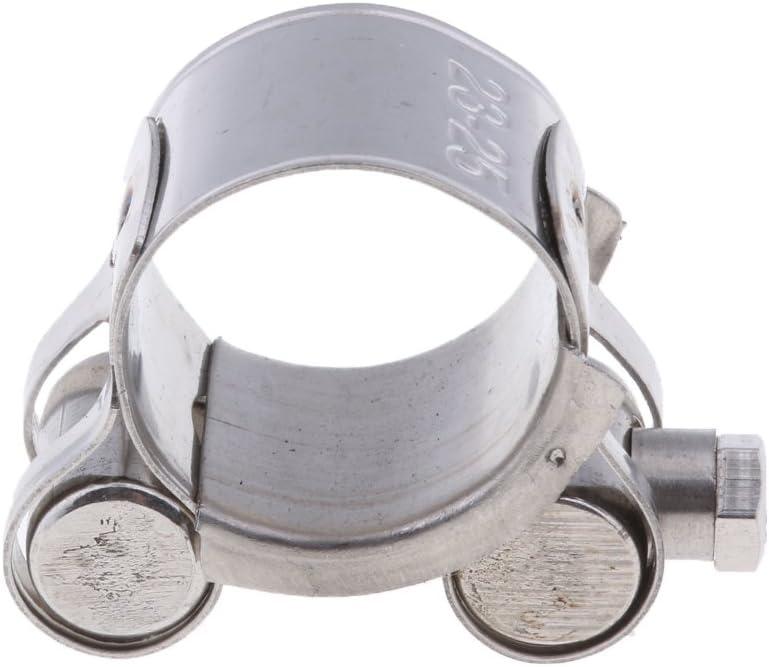 Baoblaze 1 Stück Abgasrohrschelle Edelstahl Gelenkbolzenschelle Auspuff Schelle Auspuffschelle Rohrschelle Für 23 25mm Motorrad Auto