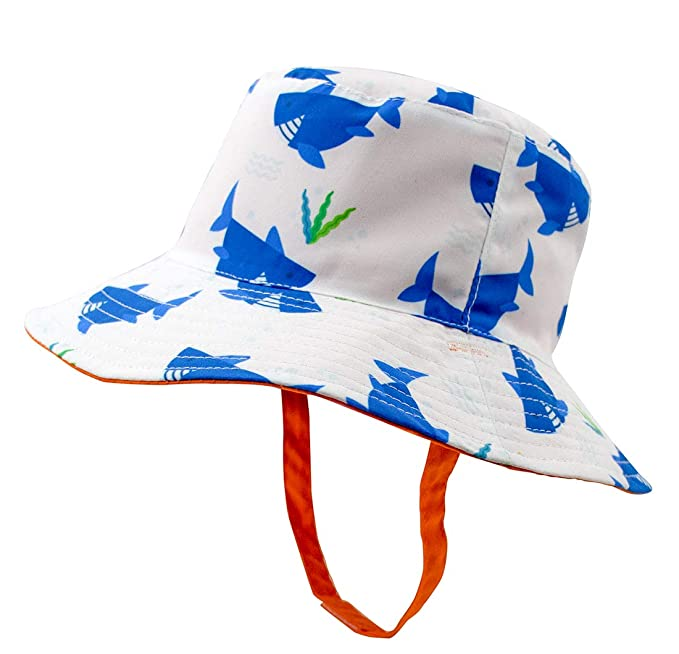 1533c7125ee252 Baby Boy Sun Hat - Toddler Bucket Hat Sun Protection Wide Brim, Quick-Dry