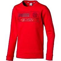 PUMA Alpha Graphic Crew - Sudadera roja para niño 580234-11
