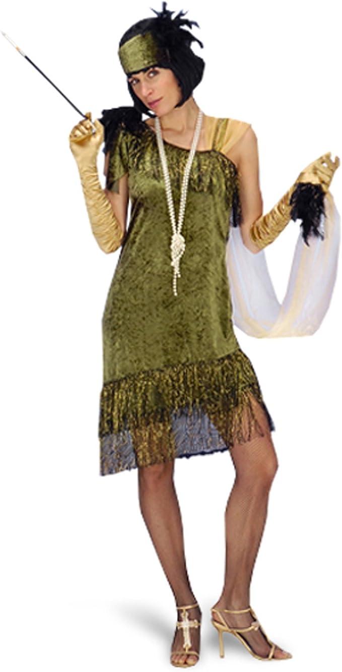 Disfraz de charlestón - vestido de fiesta con cinta, traje de ...