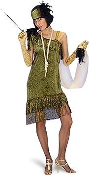 Disfraz de charlestón - vestido de fiesta con cinta, traje de mujer al ...