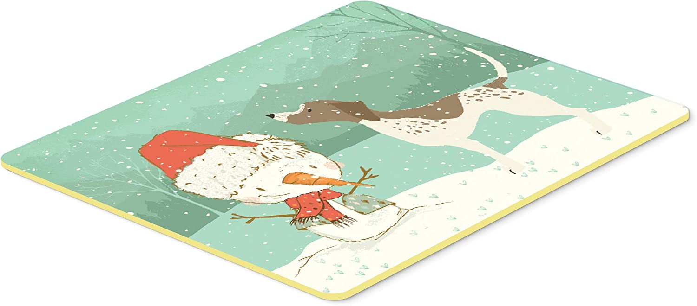 Multicolor 24Hx36W Carolines Treasures German Shorthair Snowman Christmas Kitchen or Bath Mat 24x36