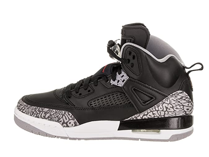 Nike Air Jordan Spizike BG Grade School Black Cement GreyWhiteRed, 5.5