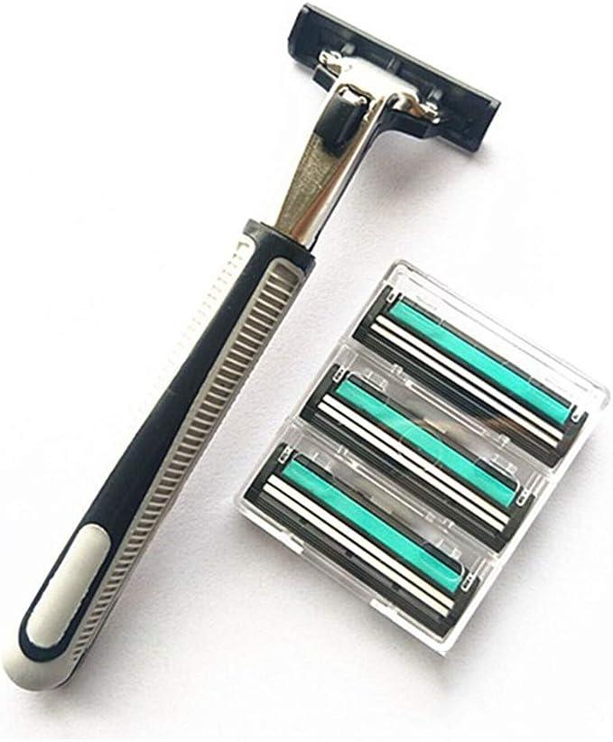 PIPIAI - Afeitadora de seguridad de doble rosca, para cuchillas de ...