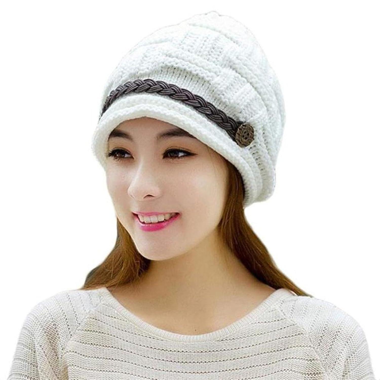 Elaco Braided Lady Warm Baggy Winter Beanie Knit Crochet Ski Hat