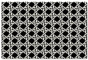 Bungalow Flooring 25-by-60-Inch MicroFibre Runner, Royal Cane Design in Black