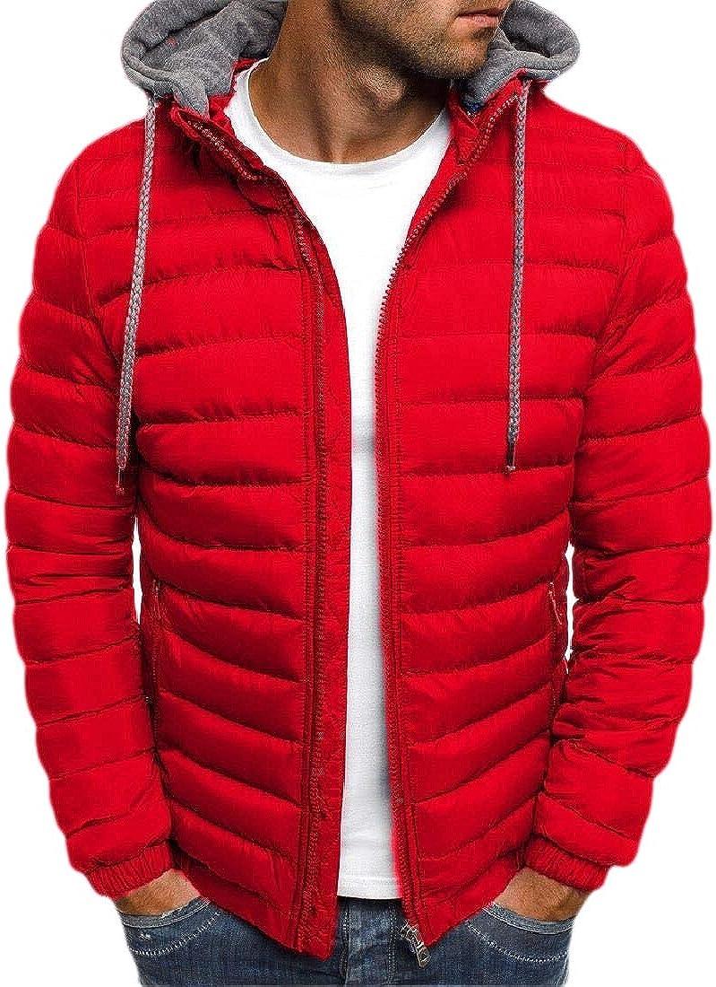 WSPLYSPJY Mens Down Jackets Coats Lightweight Packable Winter Outerwear