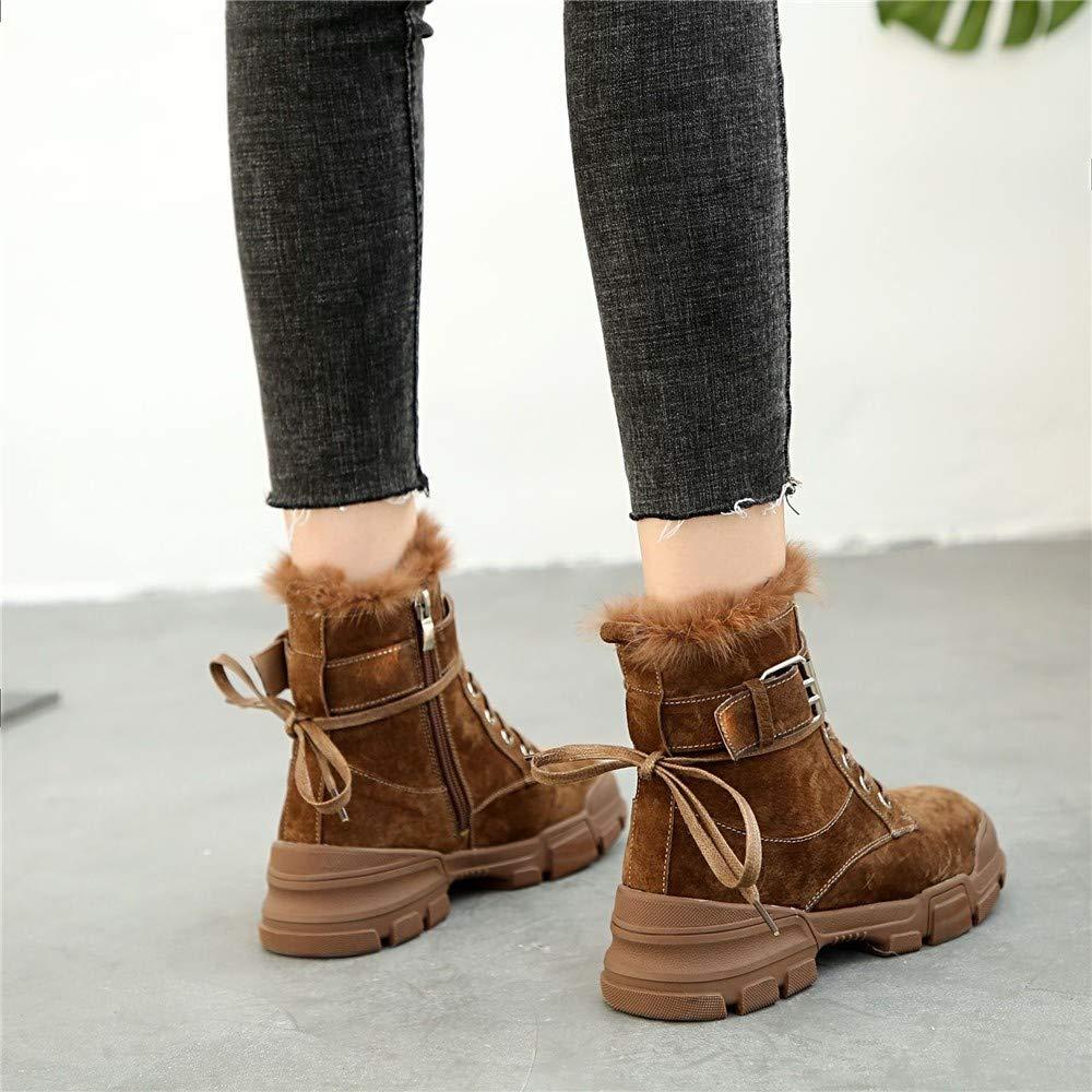 MQQXdie Damen im frühjahr und Herbst Student Martin Stiefel mit Baumwolle vlies Baumwolle mit Schuhe a0eca0