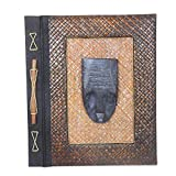 NOVICA Decorative Paper and Natural Fiber Journals 14.25'' x 12.25'', Brown, Reminiscent Woman'