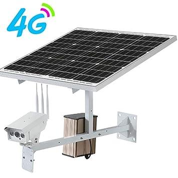 WWAVE Cámara de vigilancia inalámbrica Solar 4G Sim Card Tarjeta de Red inalámbrica remota de la