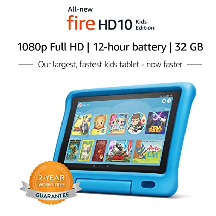 Best Tablet For Kids 2020.All New Fire Hd 10 Kids Edition Tablet 10 1 1080p Full Hd Display 32 Gb Blue Kid Proof Case