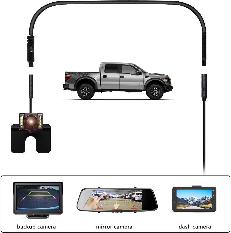 5 Pin 6.5 Ft//2M Dash Cam Cord Car Dash Camera Rear View Camera Cord Wires Backup Camera Extension Cable
