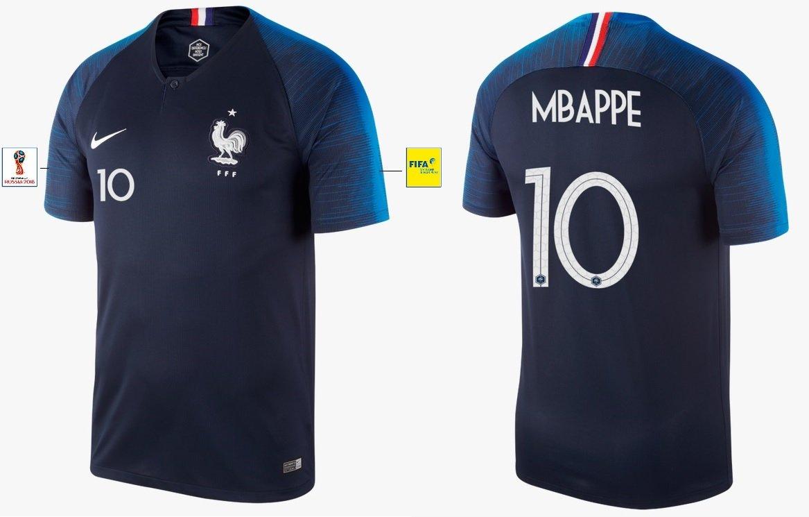 Nike Group Trikot Herren Frankreich WM 2018 Home – Mbappe 10