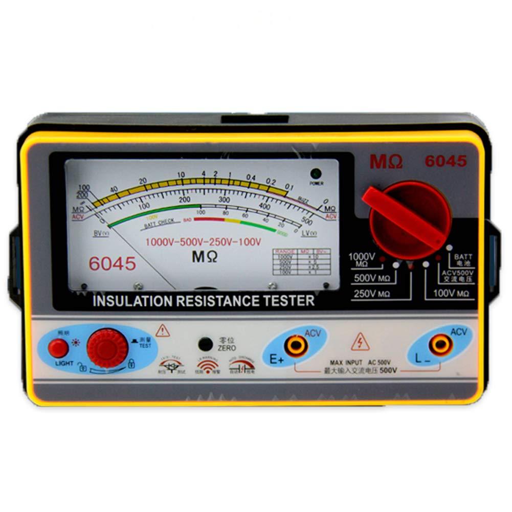 Megger Megohmmeter 100V 250V 500V 1000V for Testing Insulation Resistance Motor Electric Cable Power Transformer Generator Electrical Equipment