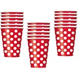 Red Polka Dot 18- 9 oz. Paper Cups Party Accessory
