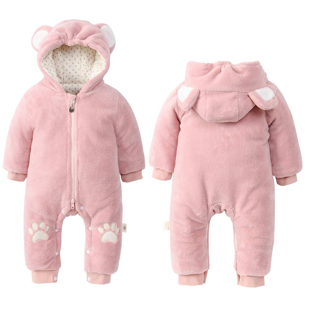 mikistory Infant Romper Newborn Unisex Costume for Baby Newborn Outfit Hoodie Winter Baby Outfits Bodysuits