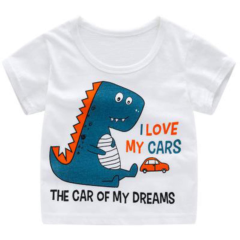 Boy Striped Short Sleeve T-shirt Kids Children Summer Casual Tee Tops Shirts