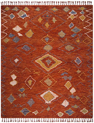 (Safavieh Kilim Collection KLM821A Hand-Woven Teal and Red Area Rug (8' x 10'))