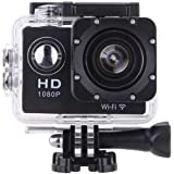 Vemont Action Camera 2.0Inch Screen, WiFi 12MP Full HD 1080P 30M/98Base Waterproof Sports Camera 170° Wide Angle with Accessory Kit