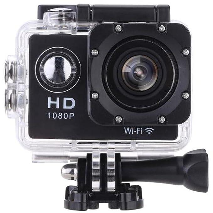 VEMONT Acción Cámara de 2,0 Pulgadas de Pantalla, WiFi 12 MP Full HD 1080p 30 m/98 Soporte Agua Densidad Sports Cámara 170 ° Amplio con Accesorios ...