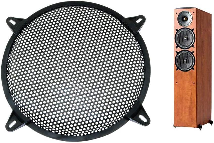 ToToT 2pcs Loudspeaker Net Cover 10 Grill Cover with Iron Mesh Presser Foot for DIY Speaker and Car Speaker