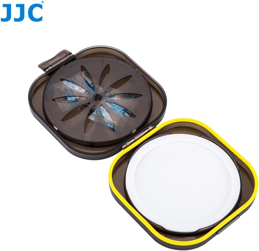 JJC FLC-L Moistureproof Rubber Seal Ring Filter Dryer Case for 58mm 62mm 67mm 72mm 77mm 82mm 86mm UV CPL ND Camera Lens Filter with Replaceable Silica Gel Dehumidifier Desiccant