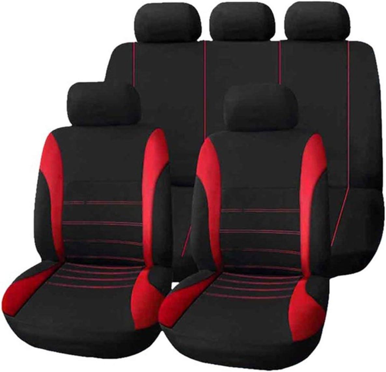 9pcs Universal Car Seat Cover Dustproof Seat Protectors Full Set ORANGE~ SE
