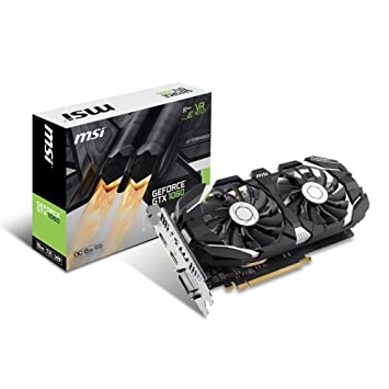 MSI NVIDIA Geforce GTX 1060 6GB 0CV1 GDDR5 PCI Express DP/DVI/HDMI Graphics  Card - Black