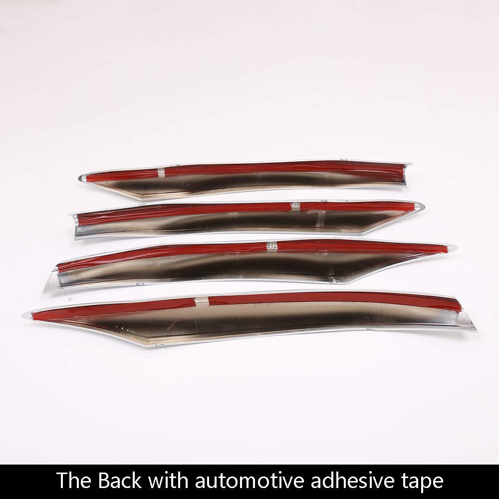 Tiras de decoraci/ón para rejilla delantera de coche de ABS cromado y fibra de carbono para clase C W205 2019