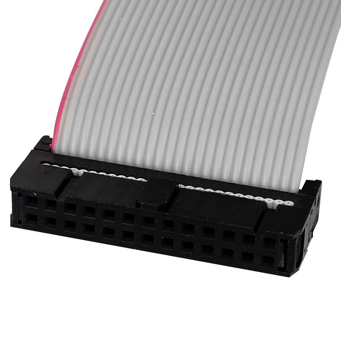 eDealMax IDE PATA estensione Cavo a nastro, femmina a femmina, 50 cm, 2,54 mm, 26-pin, 2 pezzi