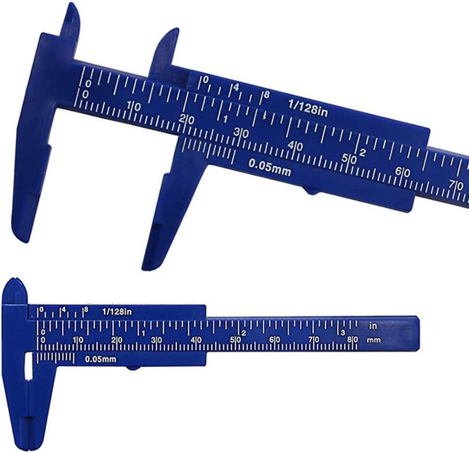 OPSLEA Vernier Caliper 80 mm Mini pl/ástico Regla Deslizante Gauge Medir Herramienta