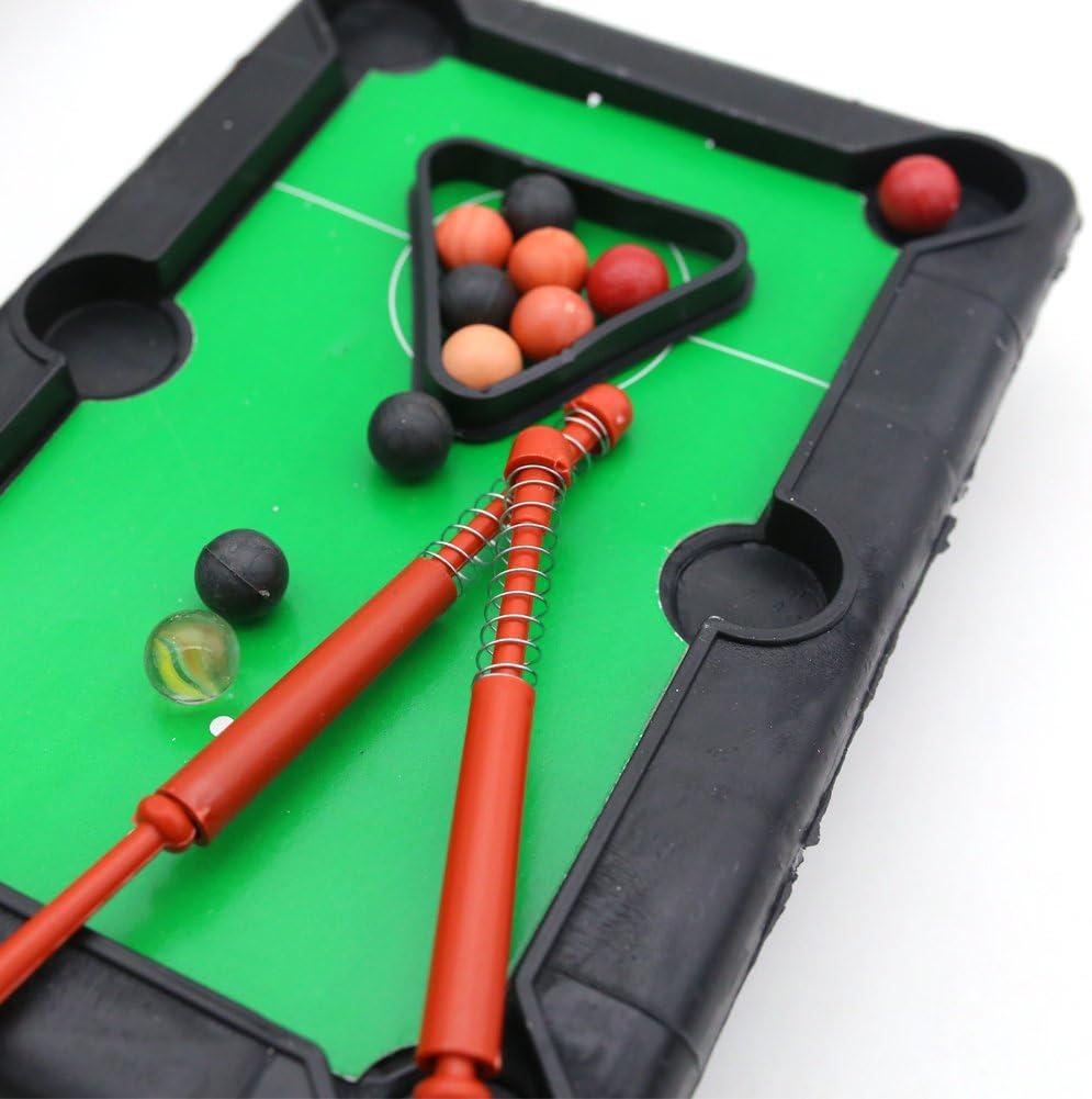 Mini Juego de Mesa de Piscina, Juego de Mesa en Miniatura para Adultos y chindren, también presentado una Mini Mesa de Billar: Amazon.es: Deportes y aire libre