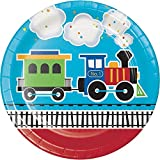 All Aboard Choo Choo Trains Party Supplies Bundle Pack for 16 (Bonus 18 Inch Balloon Plus Party Planning Checklist by Mikes Super Store)