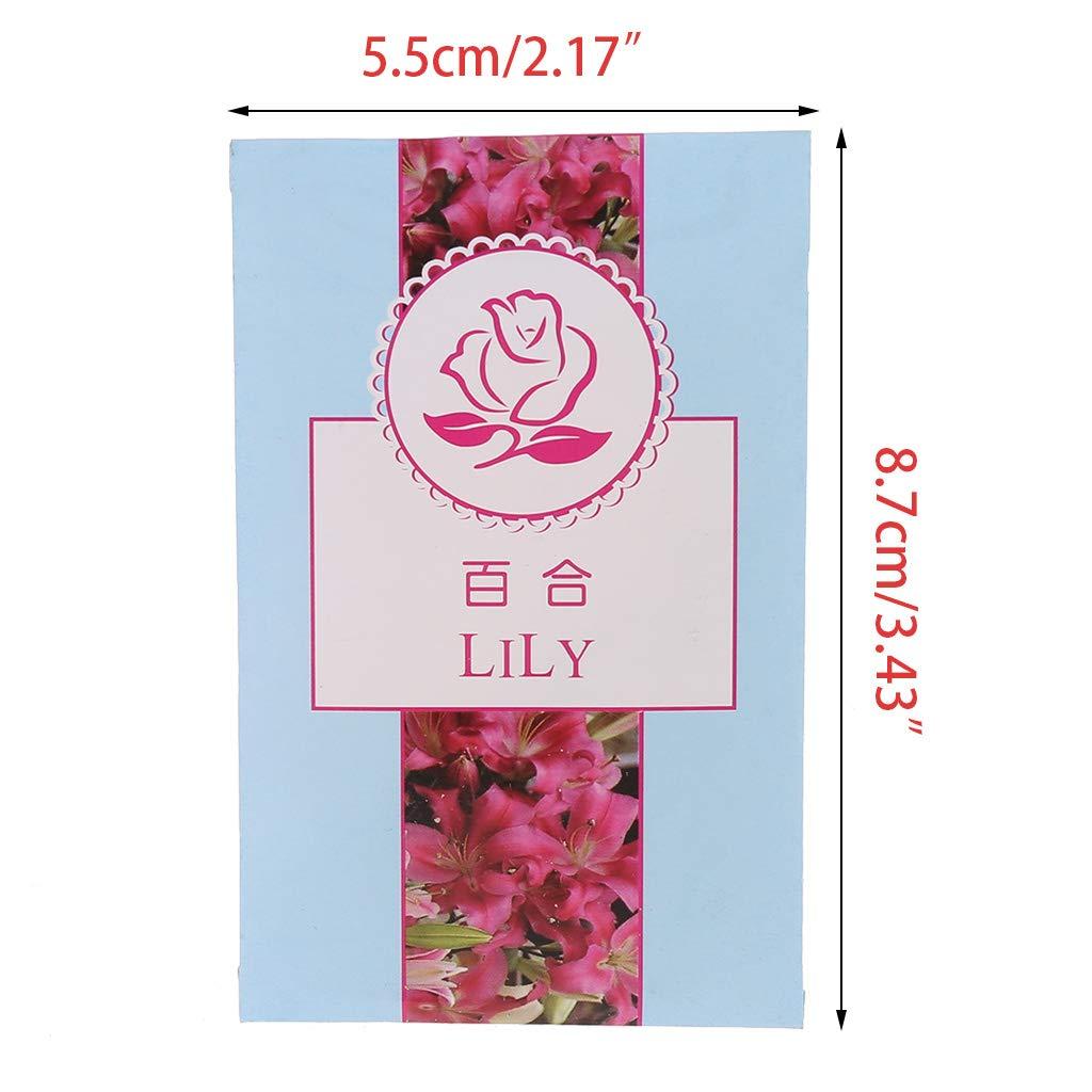 FATTERYU Natural Flowers Sachet Luftentfeuchteter Lufterfrischer f/ür das Auto zu Hause Duft Beutel