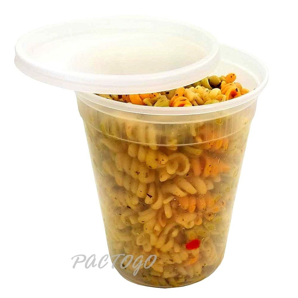 Pactiv-Newspring Plastic Microwaveable Deli Food 32 oz. Freezer DELItainer with Lid Combo - 100% BPA Free (Pack of 48 Sets) by Pactiv / Newspring (Image #3)