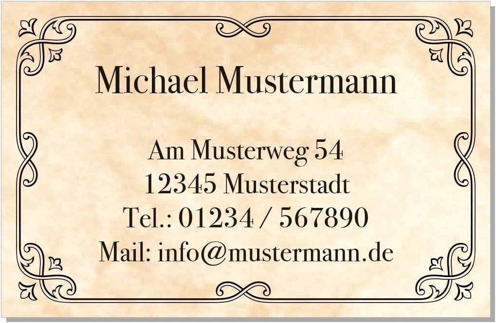 Design Marmor Antik Kartenspender Beige 100 Visitenkarten 85 x 55 mm inkl