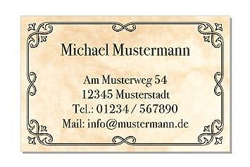 100 Visitenkarten 85 X 55 Mm Inkl Kartenspender Design Marmor Antik Beige