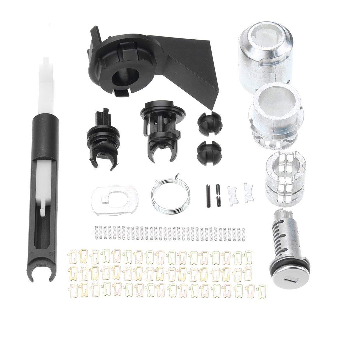 Kit di bloccaggio serratura rilascio cofano Kit chiusura scrocco per Ford For Focus MK2 2004-2012 1355231 Kit serratura kit di riparazione serratura Delicacydex