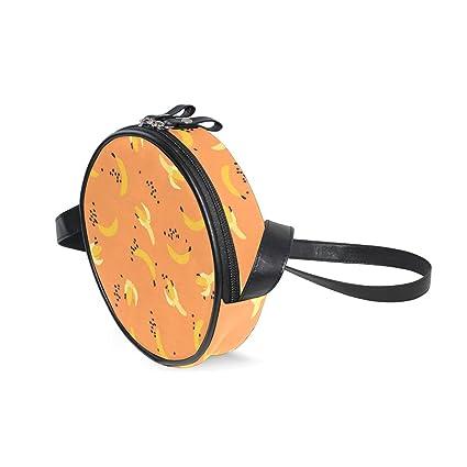Bolso Bandolera con patrón de plátano, Color Naranja, para ...