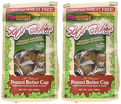 (2 Pack) K9 Granola Treats Soft Bakes Peanut Butter Cup, 12 Oz Per Pack