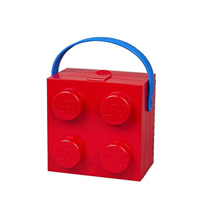 LEGO Red Hand Carry Box 4 Handle Bright: Home & Kitchen