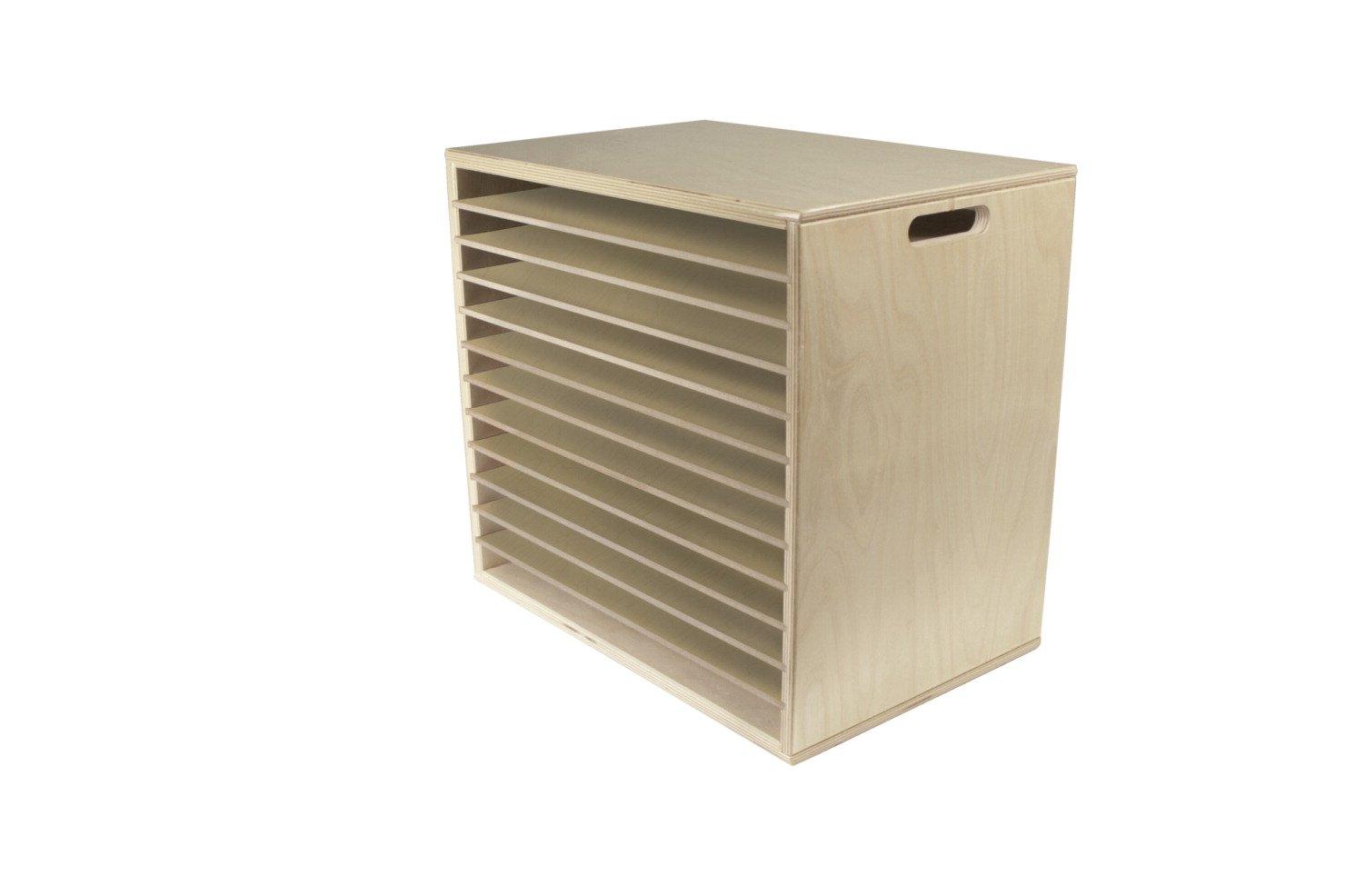 Childcraft Large-Knob Wooden Puzzle Storage Rack, 12-Shelves