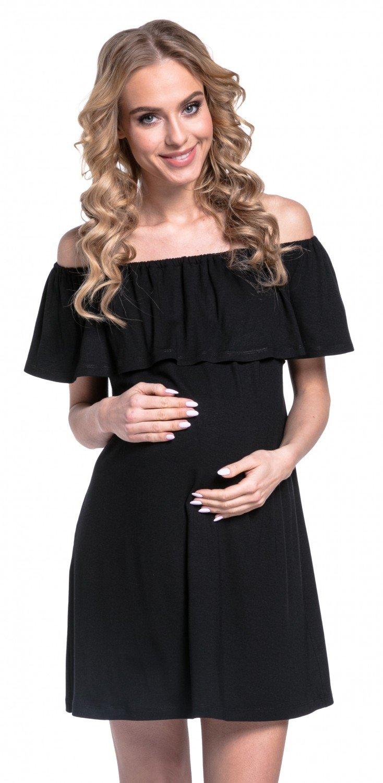HAPPY MAMA. Mujer Vestido en Capas Volante Premamá Lactancia Cuello Bardot. 624p product image