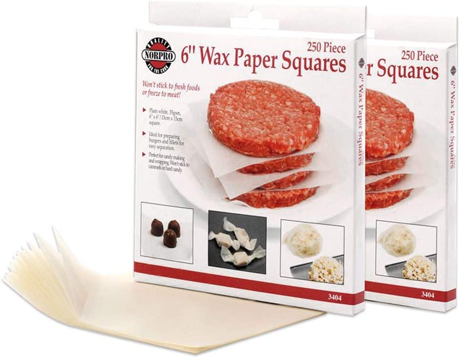 Norpro 3404 Square Wax Papers, 500-Piece