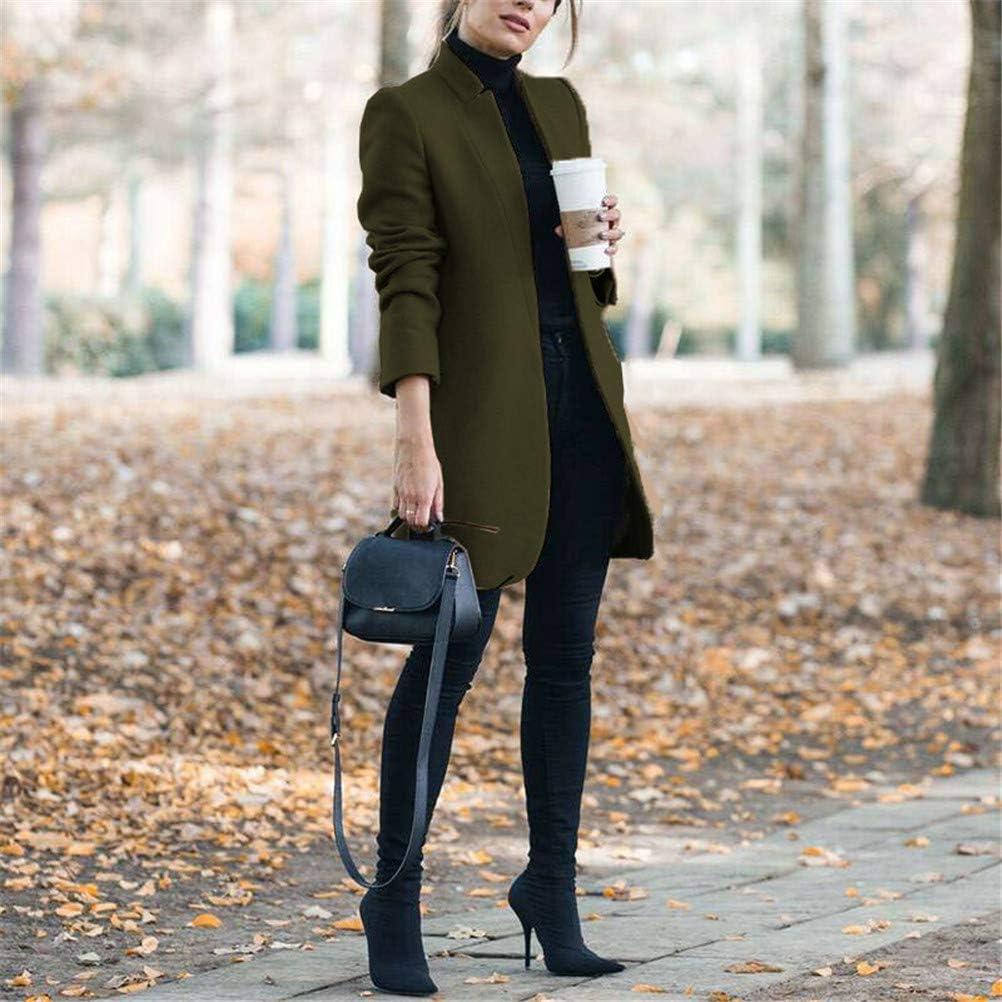 ORANDESIGNE Mujer Chaqueta Entallada B/ásica Blazer Americana Mangas Larga Elegante Superior Oficina Traje de Chaqueta Outwear Casual