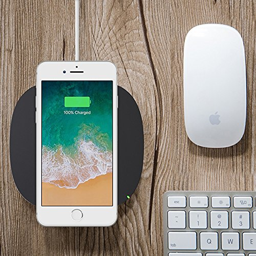 Belkin Boost up Qi (5 W) Wireless Charger iPhone X, iPhone 8 Plus, iPhone 8, Samsung Galaxy S9+/S9 Other Qi Enabled Devices (Qi-Certified Inductive Charging Pad) AC Adapter Included, Black by Belkin (Image #4)
