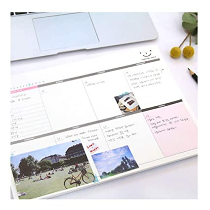 picture about Diy Daily Planner known as : A4 Huge Weekly Planner,Undated Do it yourself Table Planner