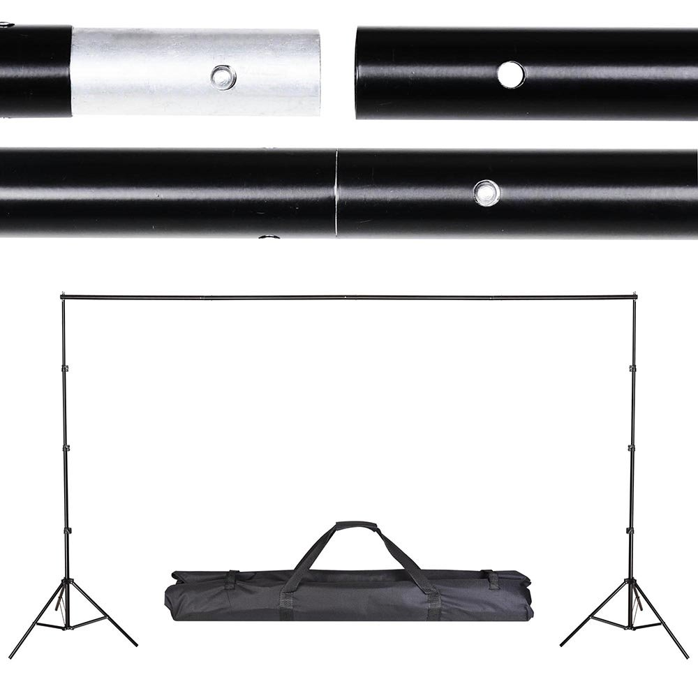 AW 8.5' x 10' Adjustable Photography Background Backdrop Stand Support Crossbar Aluminum Alloy Carry Bag Kit Studio
