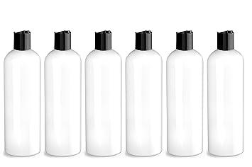 5c54b0ce07c9 Amazon.com : White PET Plastic Bottle - Cosmo 240 ml (8 oz) - 24/410 ...